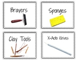158 Art Room Labels for Word Walls, Organization, and Clas