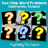 Teaching Two Step Word Problems Division, Subtraction Fun Math Coloring Pages