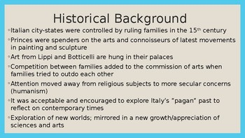 15th Cent. Italian Renaissance PowerPoint (APAH)