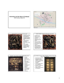 15th century Italian Art Notes (Early Renaissance)
