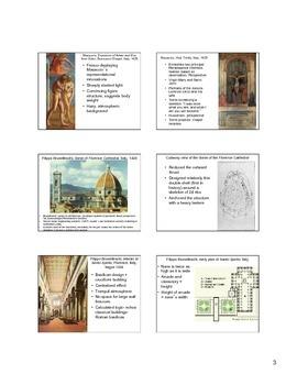 15th century Italian Art Notes (Early Renaissance)