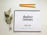 16-17 Academic Planning Calendar