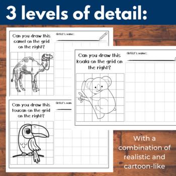 16 Animal Grid Drawing Sheets
