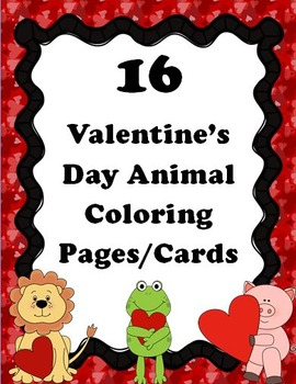 16 Valentine's Day Animal Coloring Pages