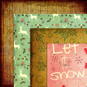 16 Antique Christmas Digital Papers Old Paper Retro Holiday