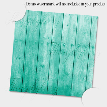 16 Aquamarine Wood Texture Digital Papers Barn Wood Papers