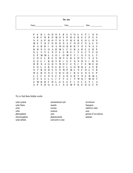 16 Astronomy Worksheets with keys