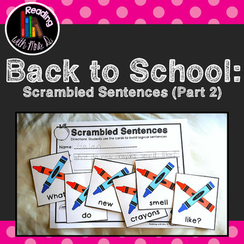 16 Back to School Scrambled Sentences (Part Two- Supplies edition)