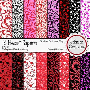 16 Beautiful Heart Papers