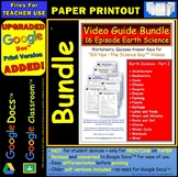 A Differentiated Worksheet Bundle Quiz Ans for Bill Nye Earth Science Part 2 *