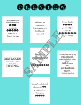 16 Black and White Classroom Motivational and Growth Mindset Posters