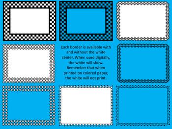 16 Black and White Clip Art Borders