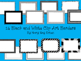 16 Black and White Clip Art Borders