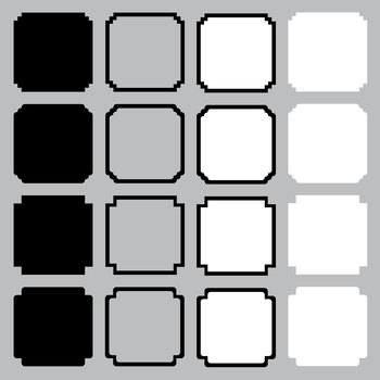 16 Black and White Square Clipart Frames by SOS Printables | TpT
