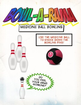 "16 Bowling Stations Cards - ""Bowl-A-Rama"""