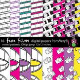 16 Fun Film and Camera Digital Backgrounds