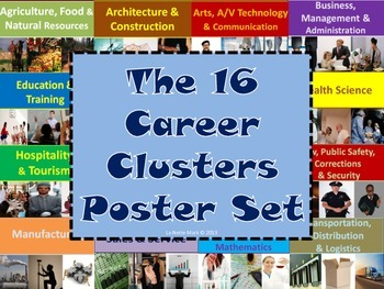 16 Career Clusters Poster Set