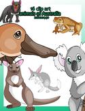 16 Clip art about animals of australia