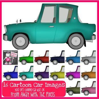 17 Color Cars Clip Art Images - Clipart for Teachers