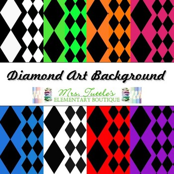 16 Color Design Diamond Digital Papers
