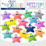 16 Colorful Happy Stars- Digital Graphics Set!!!