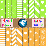 16 Digital Papers,Background in 2 Colors