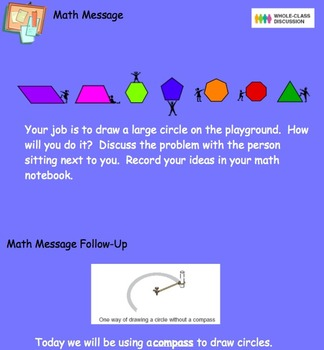 1.6 Drawing Circles with a Compass- Everyday Math, Grade 4