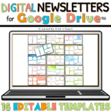 Distance learning 16 EDITABLE classroom NEWSLETTERS GOOGLE DRIVE™ watercolor