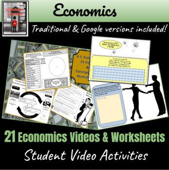 19 Economics Videos with Worksheets! ~Student Activities~