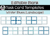 16 Editable Task Card Templates Winter Blues (Landscape) PowerPoint