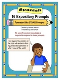 16 Expository Prompts (STAAR format) for Writing (Spanish)