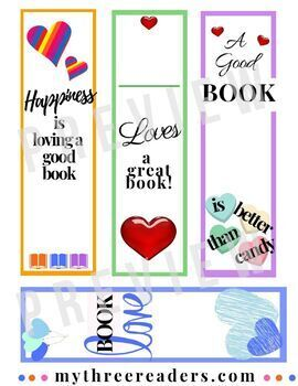 16 FREE printable Valentine's Day Bookmarks
