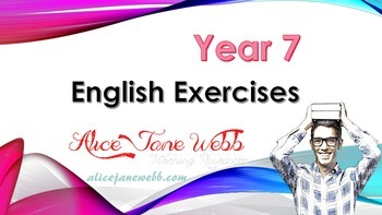 SILVER BUNDLE - Grade 7/8 English Writing skills - Lessons 1-16