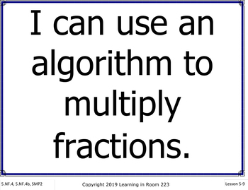 16 Fifth Grade Everyday Mathematics I Can Statement Posters for Unit 5