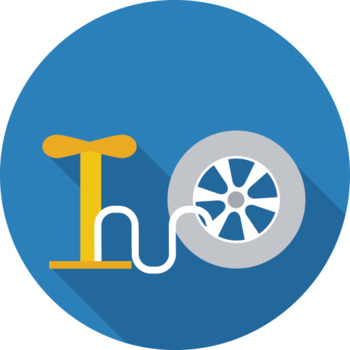 16 Flat Coloured Circle Icons - Car Service