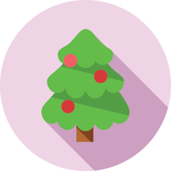 16 Flat Coloured Circle Icons - Christmas
