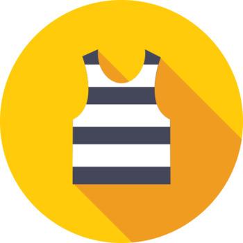 16 Flat Coloured Circle Icons - Clothing #1