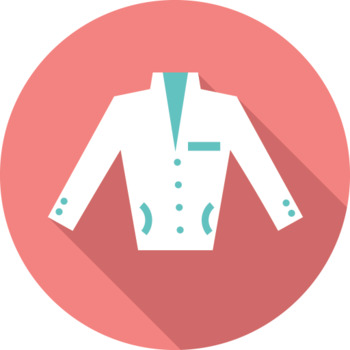 16 Flat Coloured Circle Icons - Clothing #2