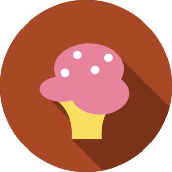 16 Flat Coloured Circle Icons - Ice Cream