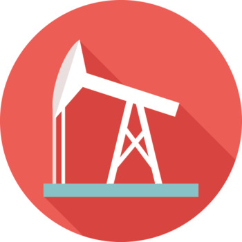 16 Flat Coloured Circle Icons - Industry