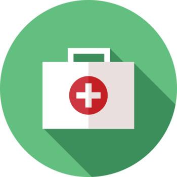 16 Flat Coloured Circle Icons - Medical