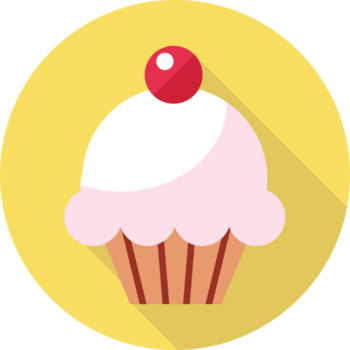 16 Flat Coloured Circle Icons - Sweet Pastry