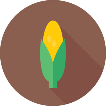 16 Flat Coloured Circle Icons - Vegetables