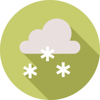 16 Flat Coloured Circle Icons - Weather