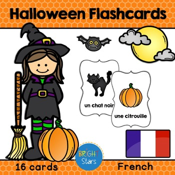 16 French Halloween Flashcards