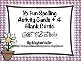 16 Fun Spelling Activity Cards