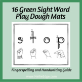 Green Sight Word Playdough Mats (Set 4) w/ Fingerspelling