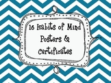 16 Habits of Mind Posters and Certificates