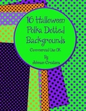 """16 Halloween 8.5"""" x 11"""" Polka Dotted Papers-CU OK"""