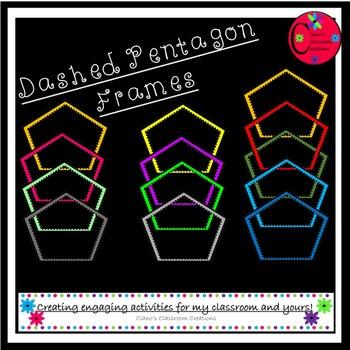 Dashed Pentagon Frames